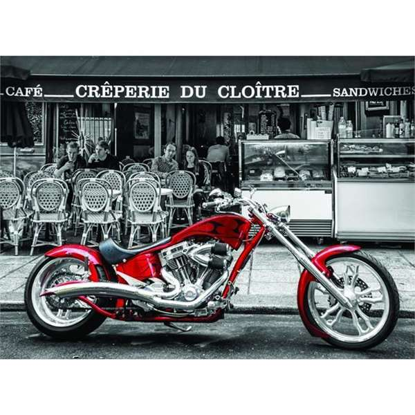 Red Chopper - 1000pc jigsaw puzzle