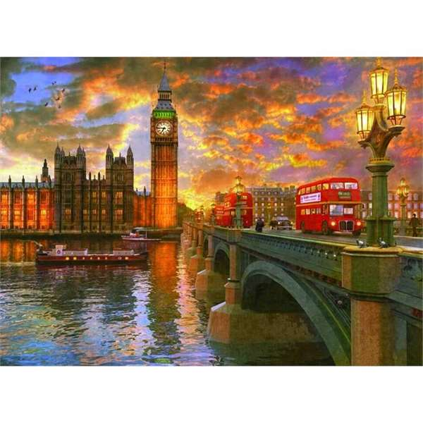 Westminster Sunset - 1000 piece jigsaw puzzle