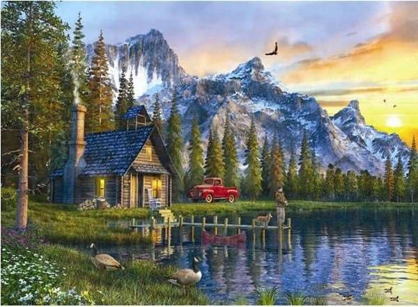 Sunset Cabin - 1000pc jigsaw puzzle