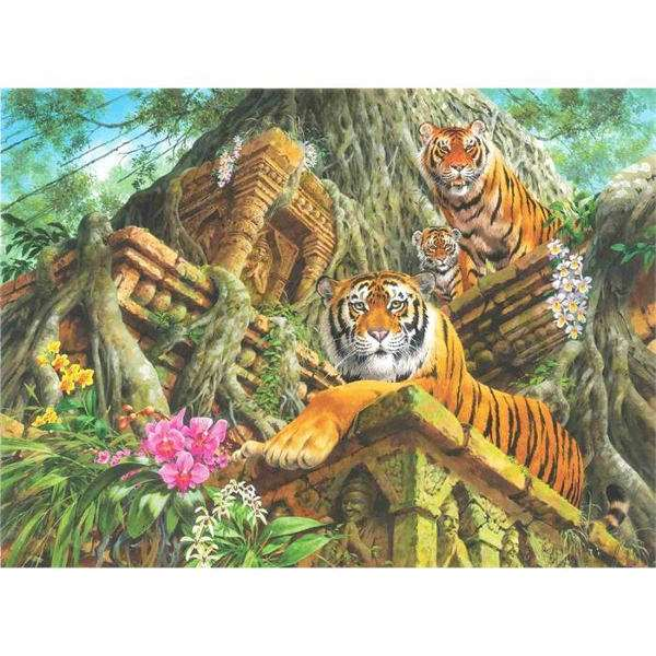 Temple Tigers - 1000pc jigsaw puzzle