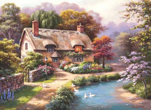 Duck Path Cottage - 1000pc jigsaw puzzle