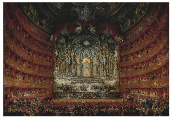Performance at the Teatro Argentina - Giovanni Paolo Panini - 2000pc jigsaw puzzle