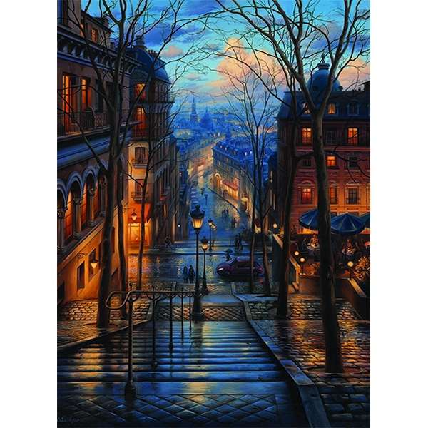Montmarte Spring - 1000pc jigsaw puzzle