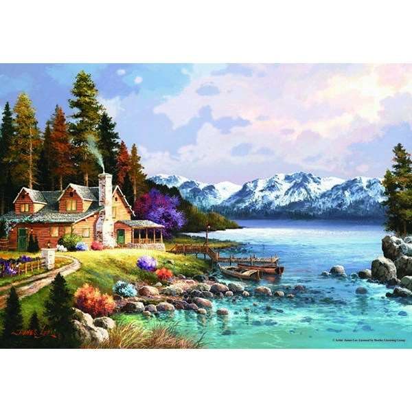 Mountain Cabin - 500pc jigsaw puzzle