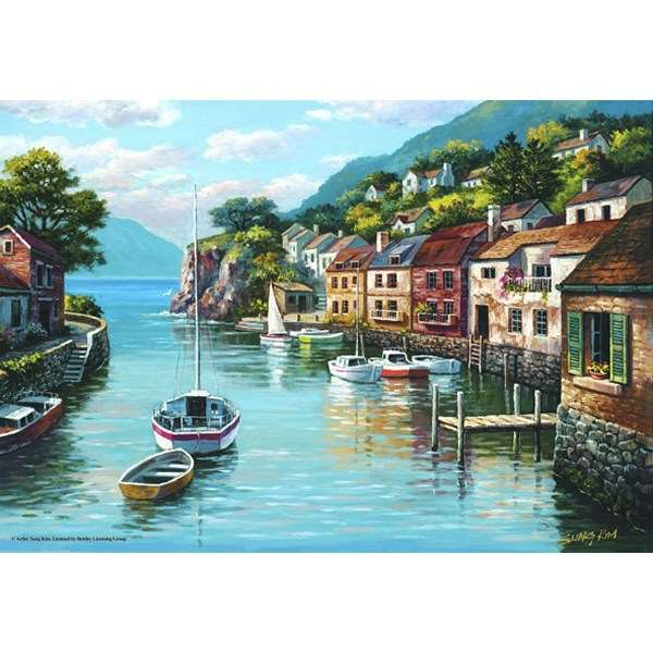 Village On The Water - 500pc jigsaw puzzle