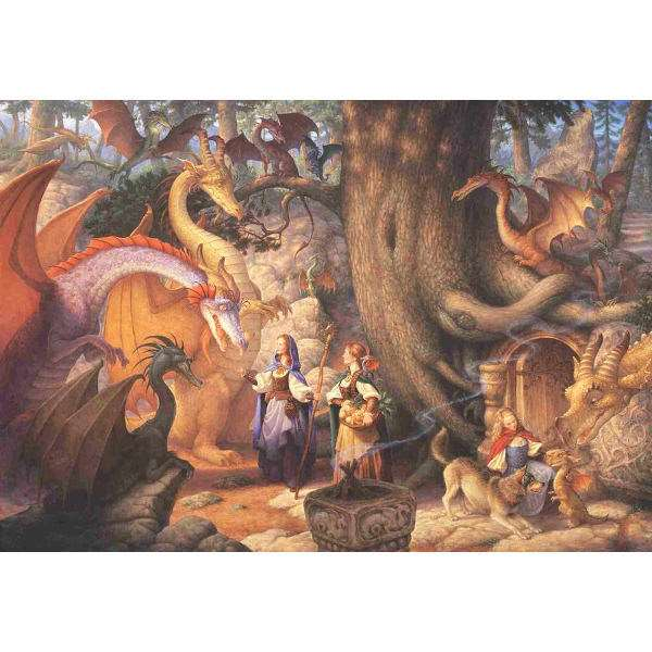 Confabulation of Dragons - 500pc jigsaw puzzle