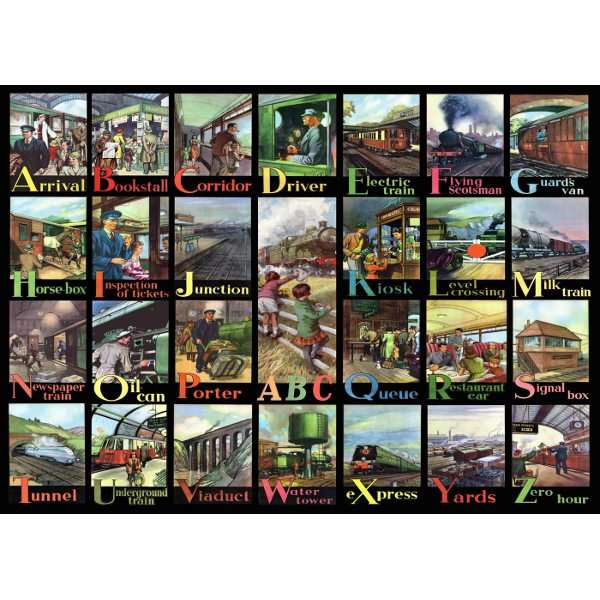 A to Z of RAIL - Big 500pc jigsaw puzzle