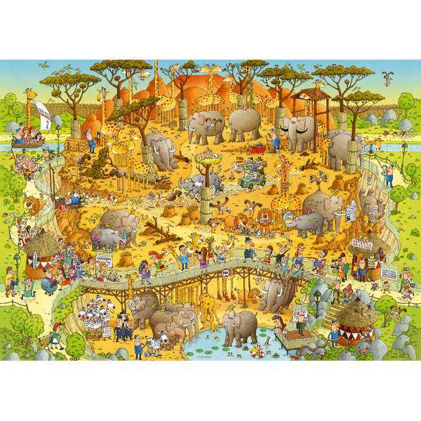Funky Zoo - African Habitat - 1000pc jigsaw puzzle