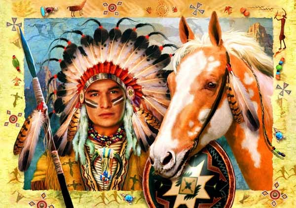 Indian Chief - 1500pc jigsaw puzzle