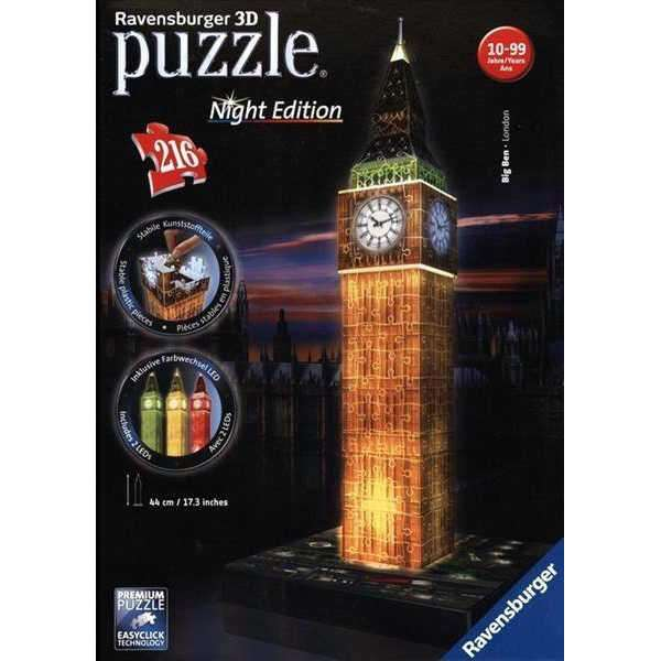 Big Ben Night Edition - 3D with LEDs jigsaw puzzle