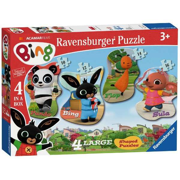 Bing Bunny - 4 Shaped Puzzles jigsaw puzzle