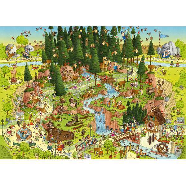 Funky Zoo - Black Forest Habitat - 1000pc jigsaw puzzle