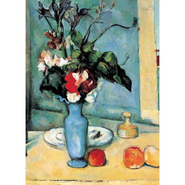 Blue Vase Paul Cezanne Jigsaw Puzzle From Jigsaw Puzzles Direct