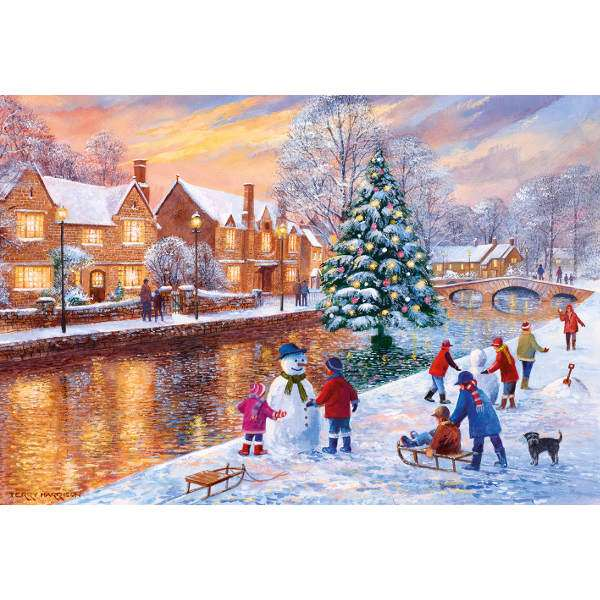 Bourton at Christmas - 500pc jigsaw puzzle