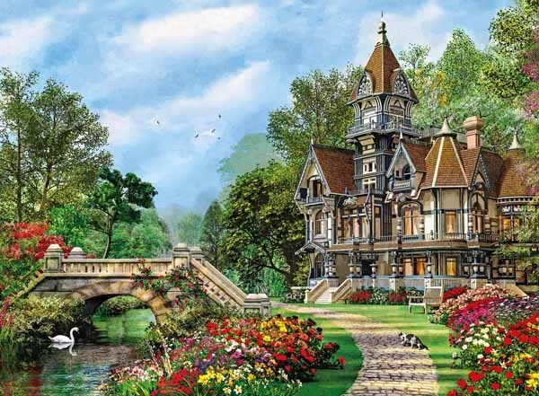 Old Waterway Cottage - 500pc jigsaw puzzle