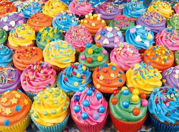 Colourful Cupcakes - 500pc jigsaw puzzle