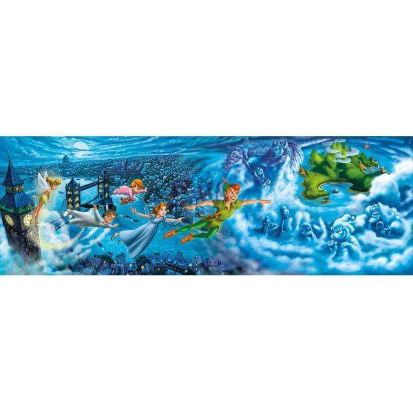 Peter Pan Night Flights Panoramic Jigsaw Puzzle From