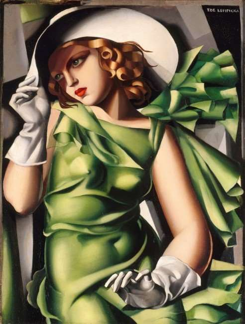 Lempicka - Young Lady in Green - 1000pc jigsaw puzzle