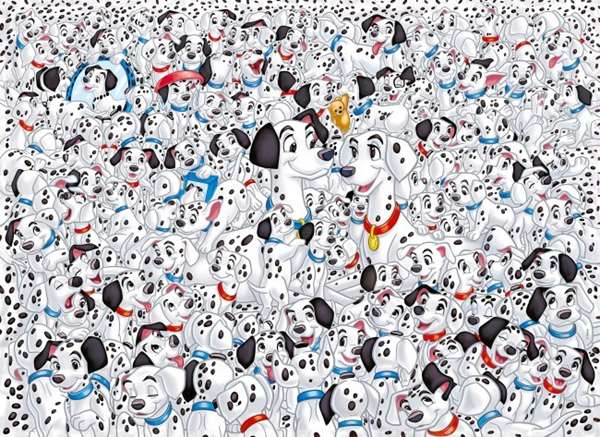 Impossible Puzzle - 101 Dalmations -1000pc jigsaw puzzle