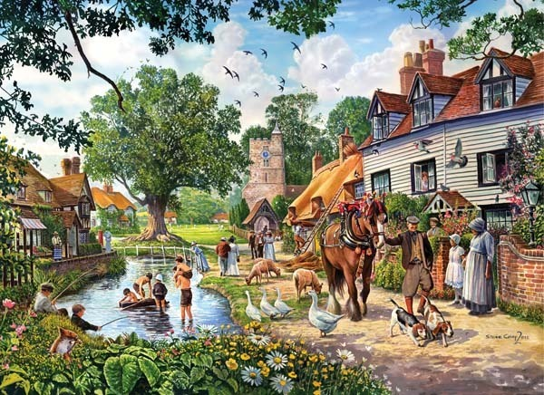 Wedding in the Country - 1000pc jigsaw puzzle