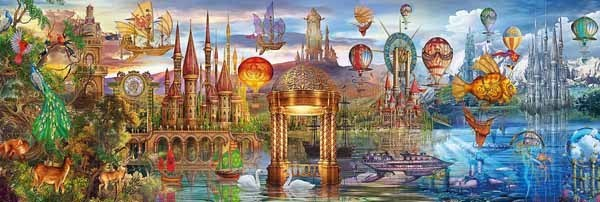 Fantasy Panoramic - 1000pc Panoramic jigsaw puzzle