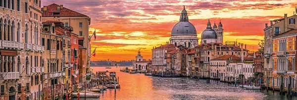 The Grand Canal - Venice - 1000pc Panoramic jigsaw puzzle
