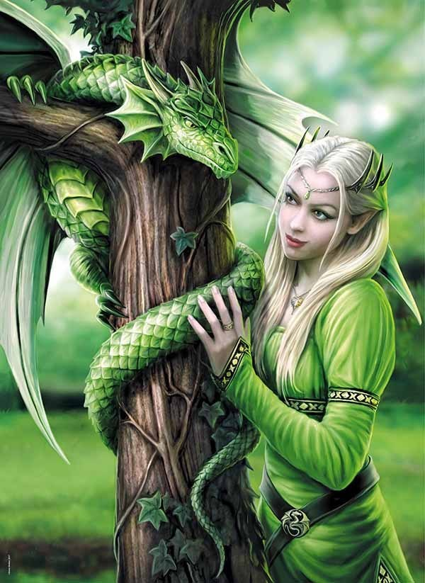 Kindred Spirits - Anne Stokes - 1000pc jigsaw puzzle