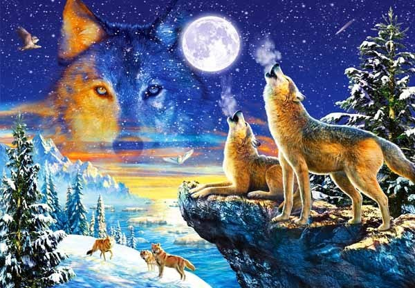 Howling Wolves - 1000pc jigsaw puzzle