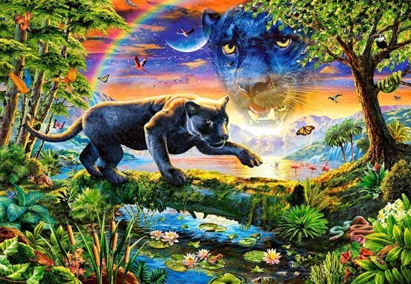 Panther Twilight - 1500pc jigsaw puzzle
