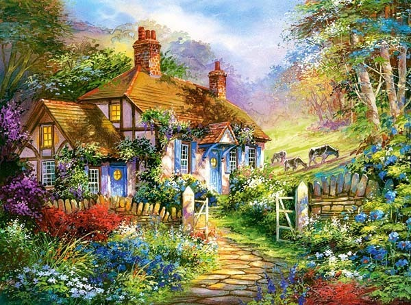 Forest Cottage - 3000pc jigsaw puzzle