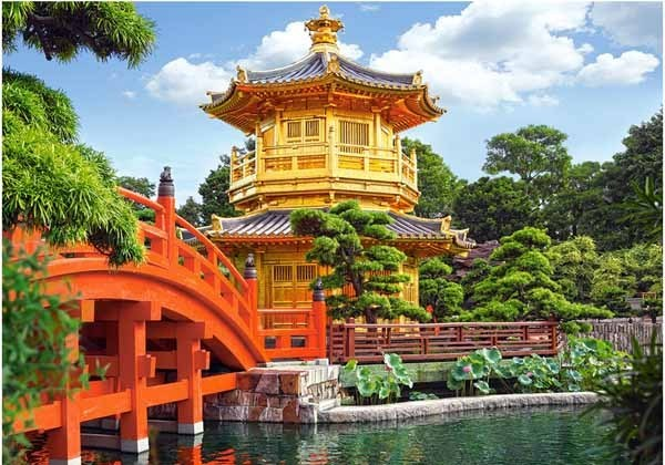 Beautiful Chinese Garden - Hong Kong - 500pc jigsaw puzzle