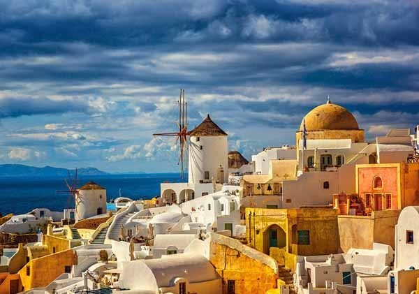View of Oia - Santorini - 500pc jigsaw puzzle