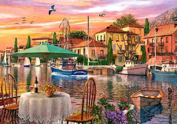 Sunset Harbour - 500pc jigsaw puzzle