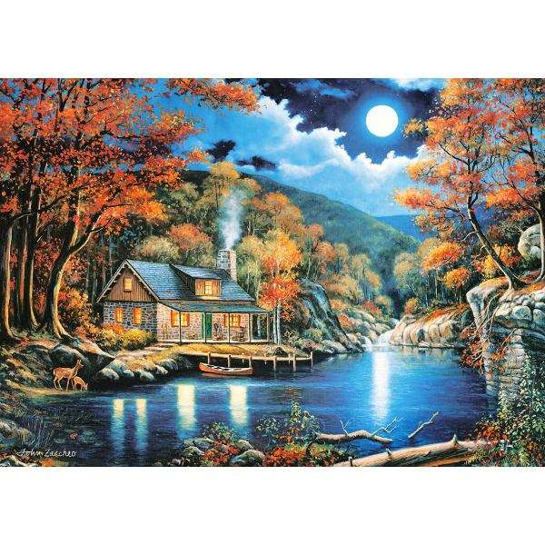 Cabin by the Lake - 2000pc jigsaw puzzle