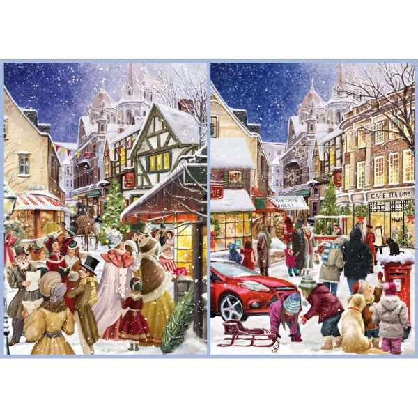christmas past and present no1 1000pc jigsaw puzzle