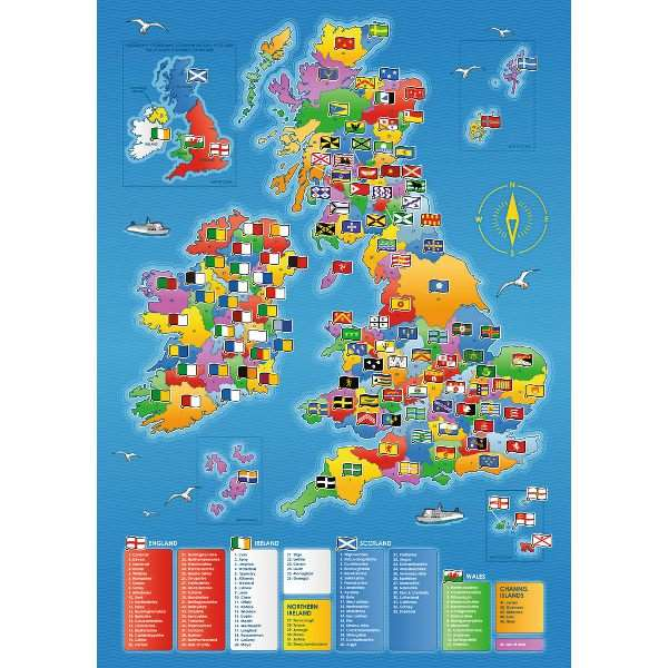 Counties Map Giant Floor Puzzle Jigsaw Puzzle From