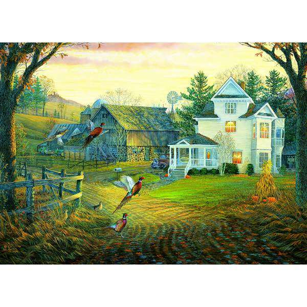 Country Crossing Pheasants jigsaw puzzle