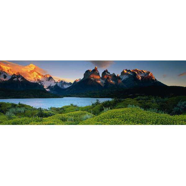 Cuernos del Paine - 1000pc Panoramic jigsaw puzzle