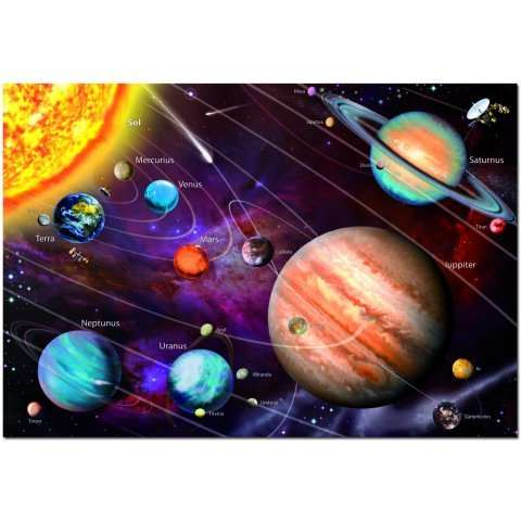 Solar System - Neon jigsaw puzzle