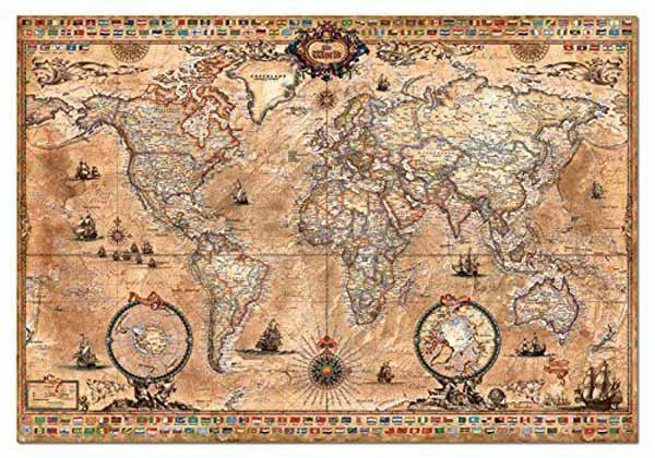 Antique world map 1000pc jigsaw puzzle from jigsaw puzzles direct antique world map 1000pc jigsaw puzzle gumiabroncs Image collections