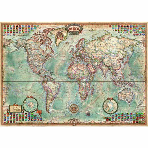 Political Map of the World - 1500pc jigsaw puzzle