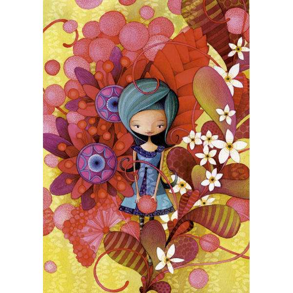 Blue Lady - 1000pc jigsaw puzzle