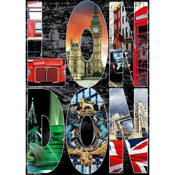 London Collage - 1000pc jigsaw puzzle