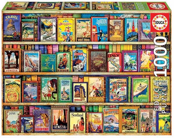 World Travel Guides - 1000pc jigsaw puzzle