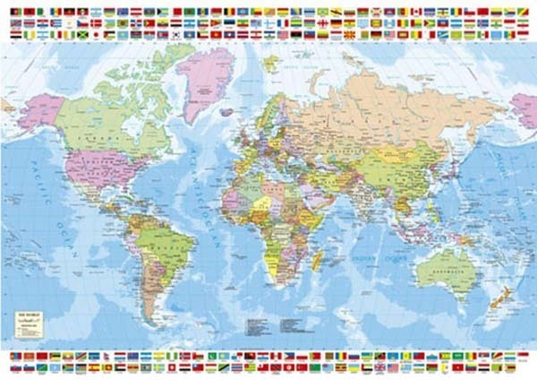 Political World Map - 1500pc Jigsaw Puzzle from Jigsaw Puzzles ...