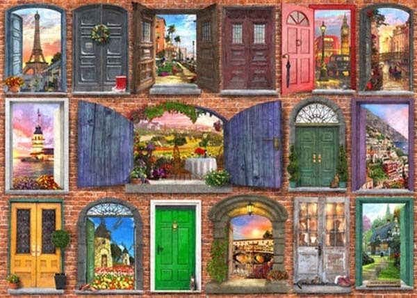 Doors of Europe - 1500pc jigsaw puzzle