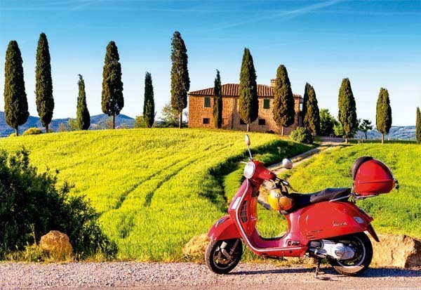 Scooter in Toscana - 1500pc jigsaw puzzle