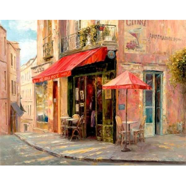 Hillside Cafe - Hixia Liu - 1500pc jigsaw puzzle