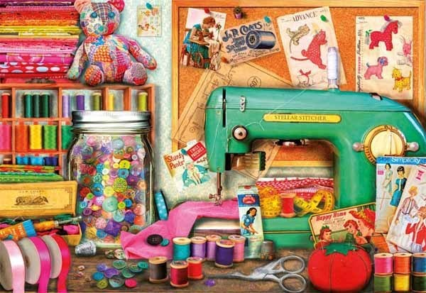 Sewing Corner - 1000pc jigsaw puzzle