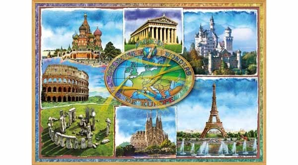 Seven Wonders of Europe - 1500pc jigsaw puzzle